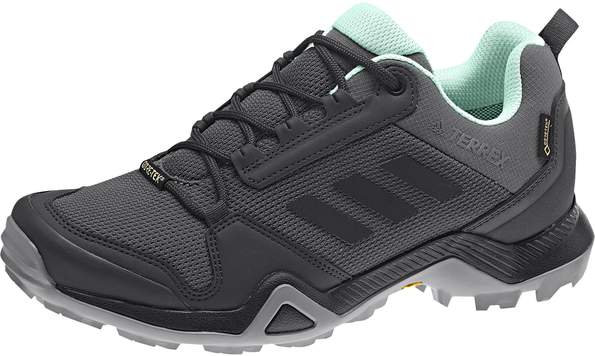 adidas TERREX AX3 Gore-Tex Chaussures de randonnée Imperméable Femme, grey  five/core black/clear mint